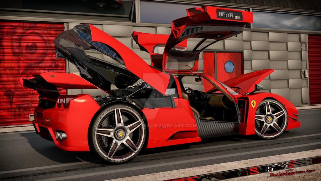 ferrari enzo custom 2014 side back by yorzua - Ferrari 2014 Enzo Interior