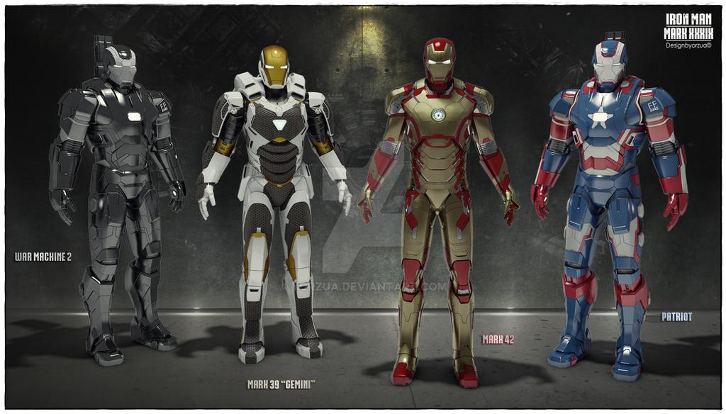 Iron Man Mark Suits Physical CG By Yorzua On DeviantArt