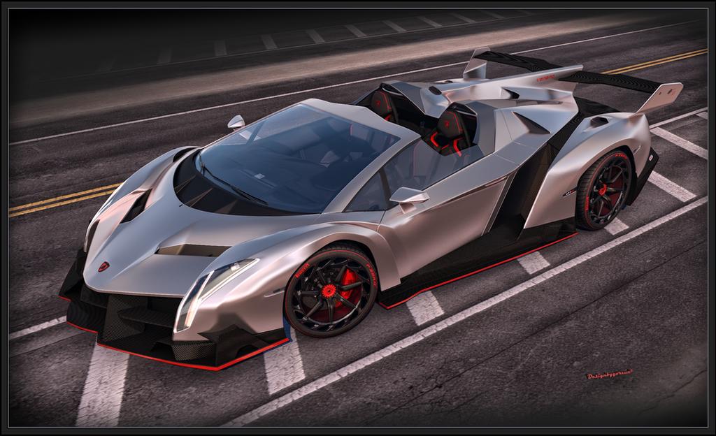 Lamborghini Veneno Roadster 2014 front by Yorzua on DeviantArt