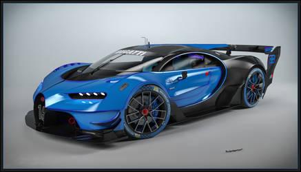 Bugatti Vision Gran Turismo Concept 2015 by Yorzua