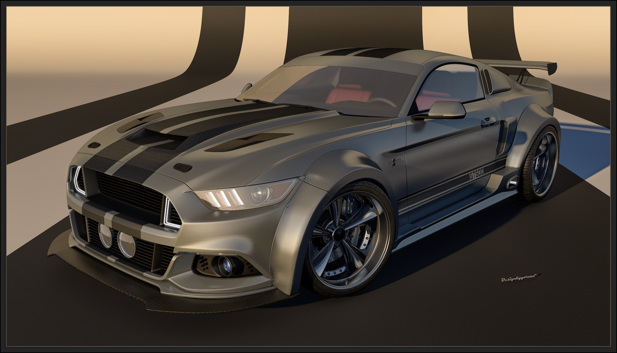 ford mustang eleanor 2015 by yorzua on deviantart. Black Bedroom Furniture Sets. Home Design Ideas