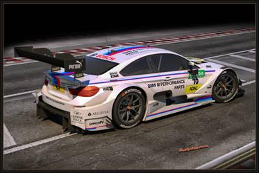 BMW M4 DTM 2015 rear by Yorzua
