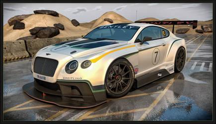 Bentley Continental GT3 2014 front by Yorzua