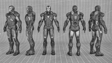 Iron Man Mark 7 wireframe