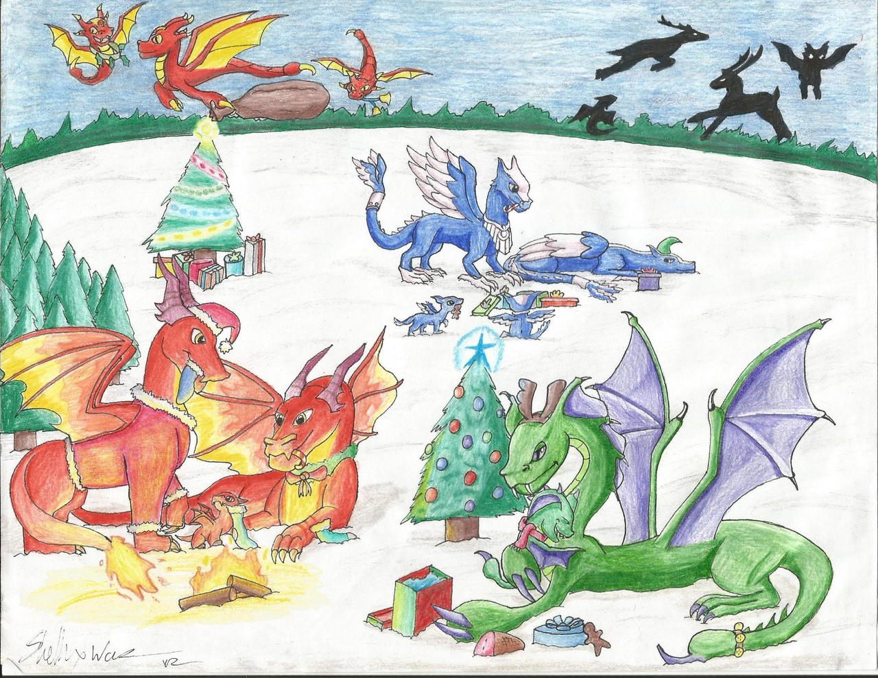 A Dragon Story Christmas by Armorwing on DeviantArt