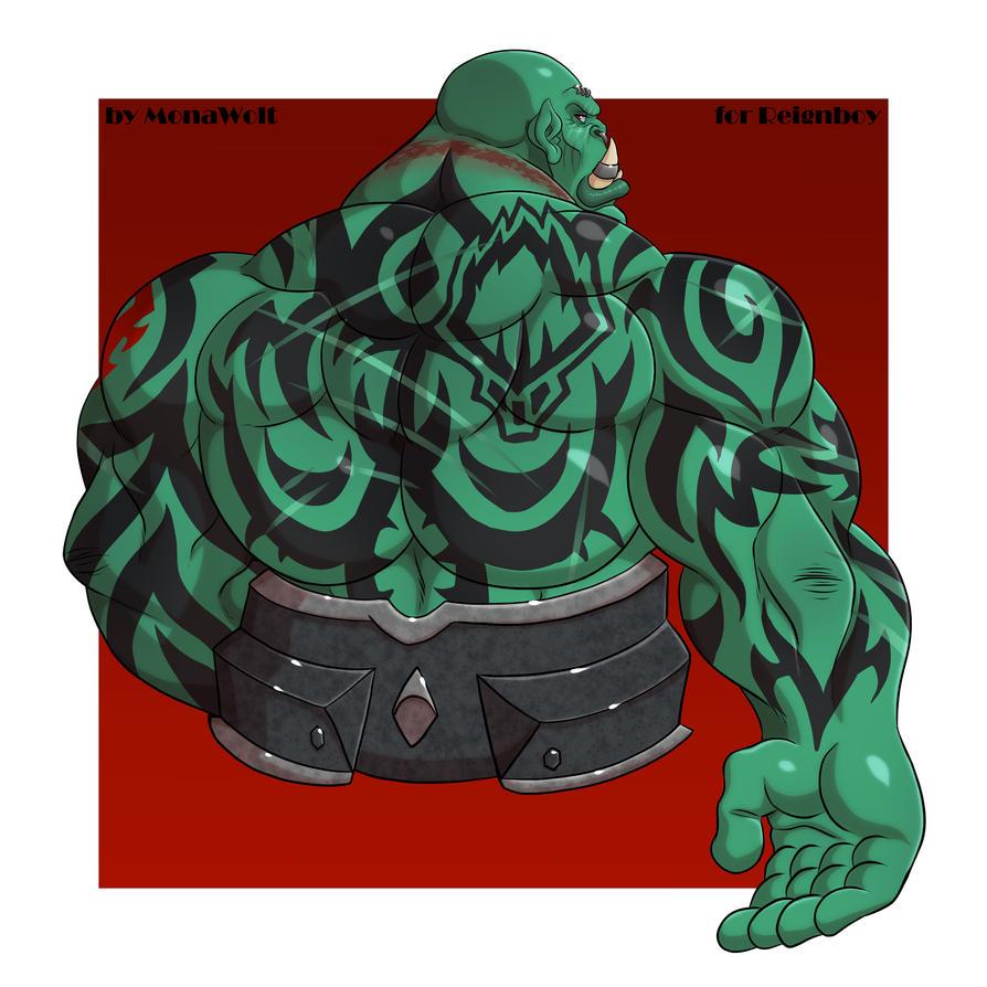 Zartrok Doomrage - Blackrock Orc - Back by Reignboy