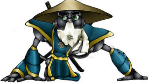 Ninja Robot Mascot for Blue Print solutions