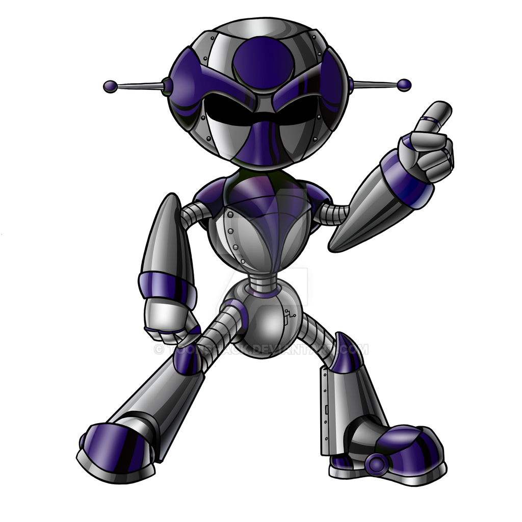 Robot Custom Colour Purple