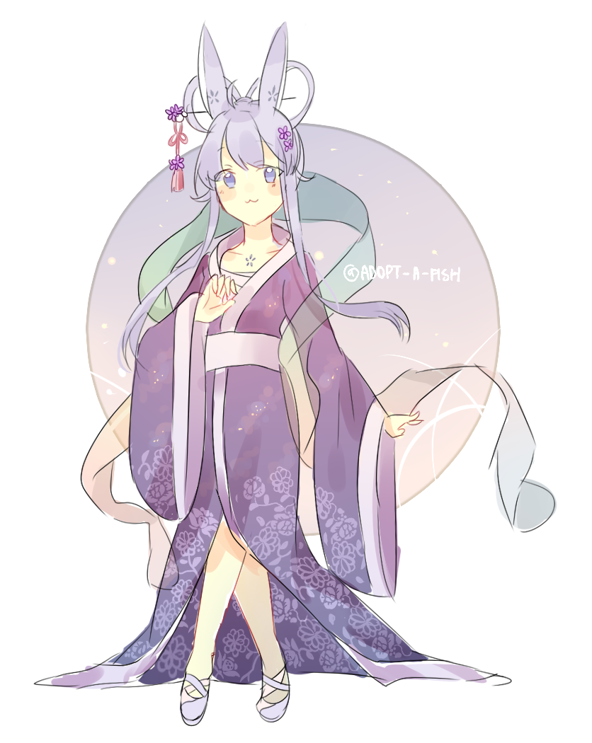Closed blue chinese moon bunny by adopt a fish on deviantart for Adopt a fish