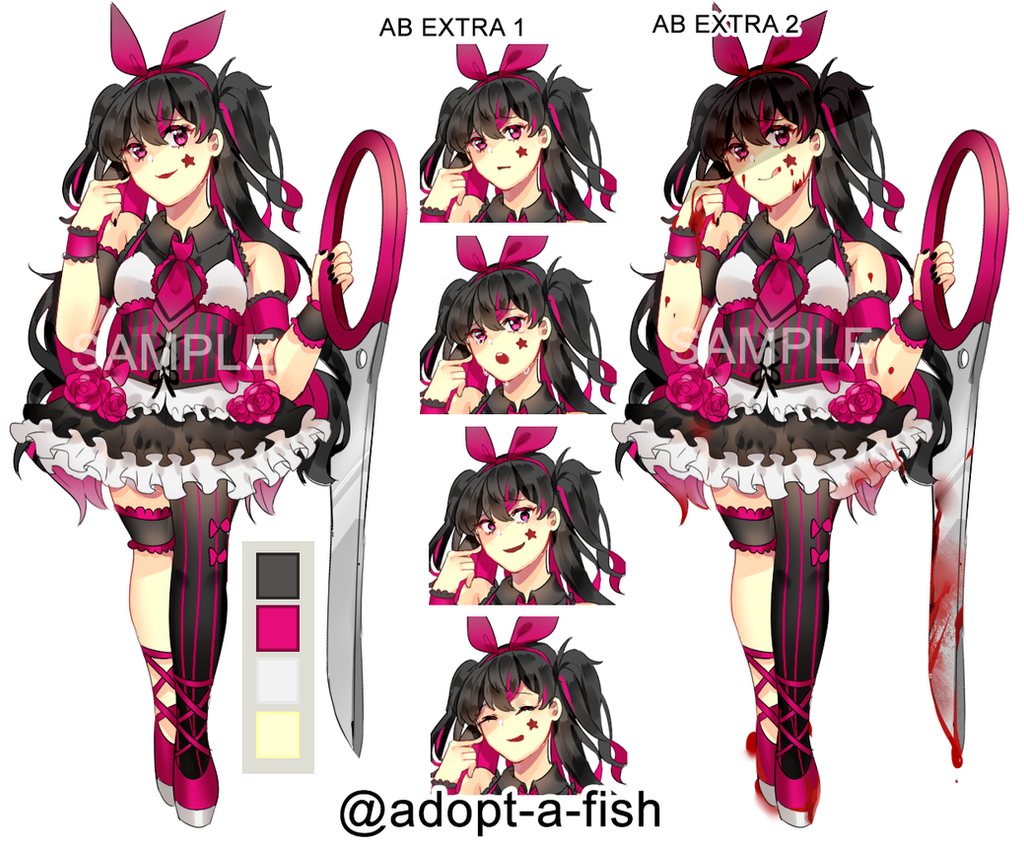 Closed punk rock corrupted magical girl by adopt a fish for Adopt a fish