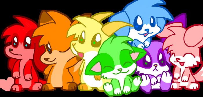 Rainbow Furs