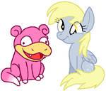 Slowpoke and Derpy