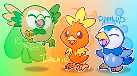 Birb Starters by HeartinaRosebud