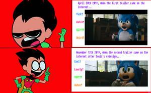 Robin Posting to Sonic's Movie Design
