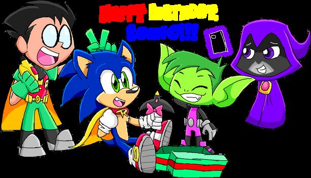 Titans Celebrating Sonic's Birthday