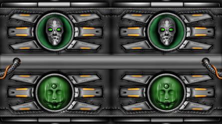 WALLPAPER SKULL BY Alienware Asus by FAFA116