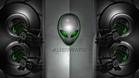 WALLPAPER ALIENWARE GREEN by ALIENWARE ASUS by FAFA116
