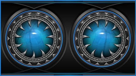 Wallpaper blue by Alienware Asus by FAFA116