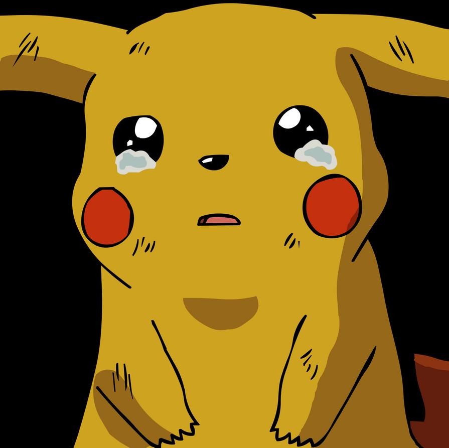 Pikachu crying drawing - photo#11