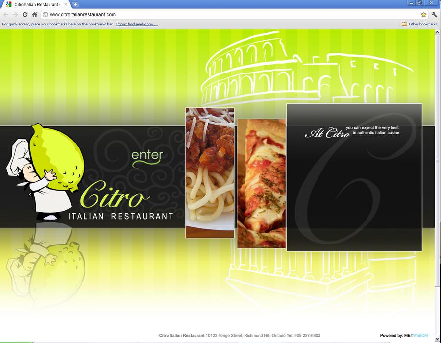 Citro italian restaurant design proposal no by eduardo