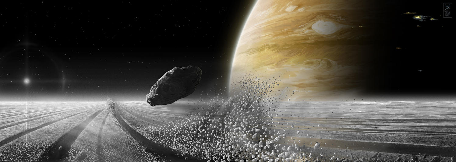 Saturnian Dream: Moonlet Requiem by Eduardo-Tarasca