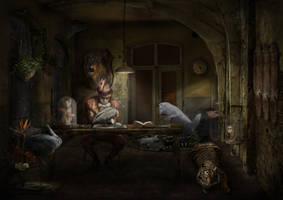 Taxidermist by Notvitruvian