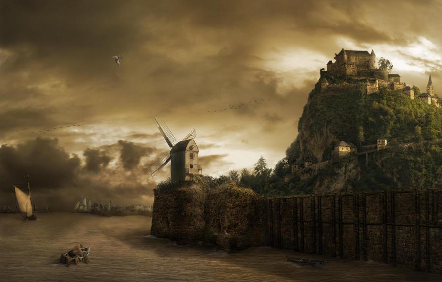 Windmill by Notvitruvian