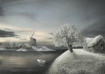 Winter scene by Notvitruvian