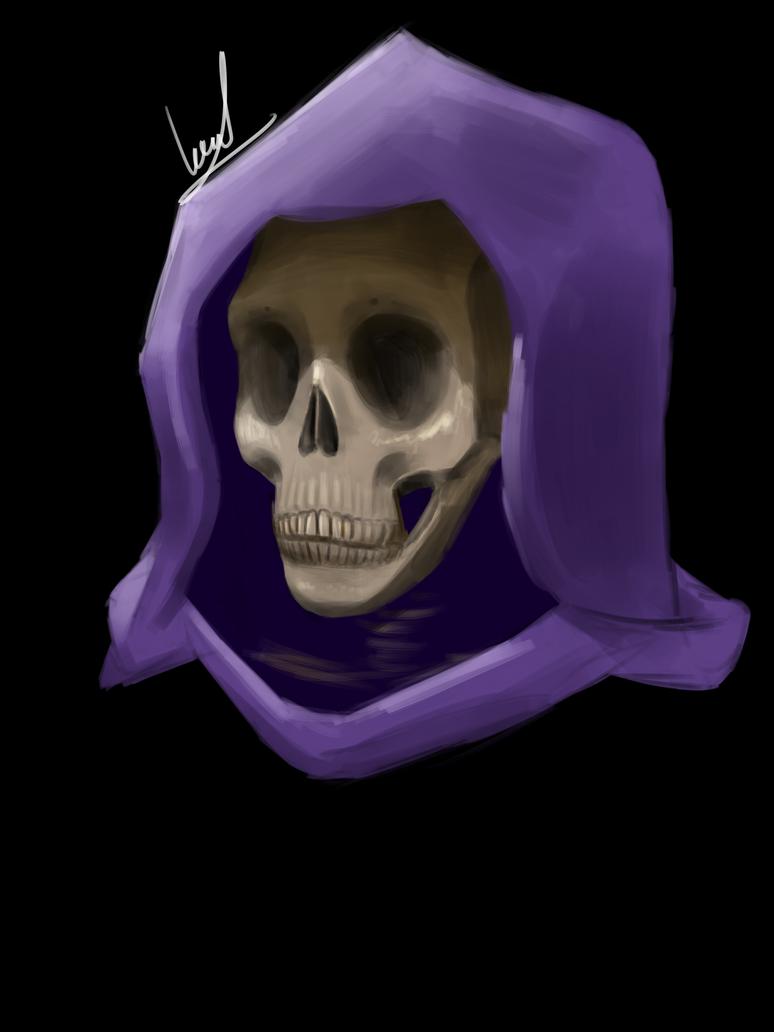 [Practice] - Hooded skeleton (Skeletor?) by Khan-the-cake-lover