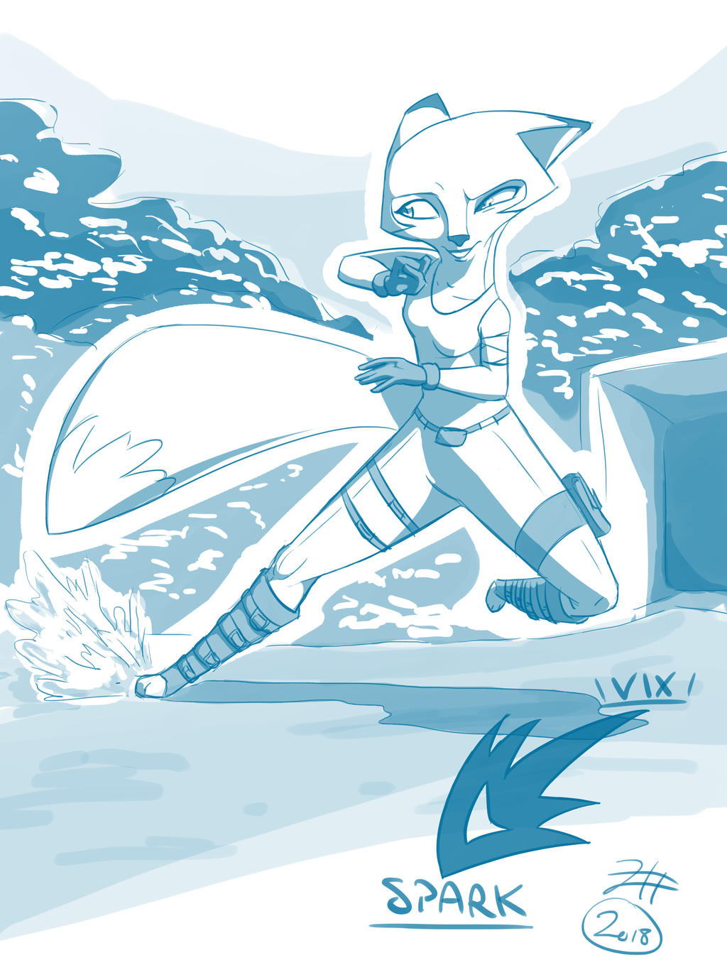 Vix Fanart Spark A Space Tail By Gyrforce On Deviantart