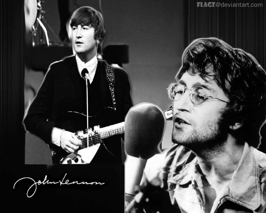 John Lennon Wallpaper by FLagZ