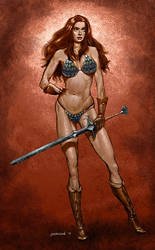 Red Sonja by serhanyenilmez