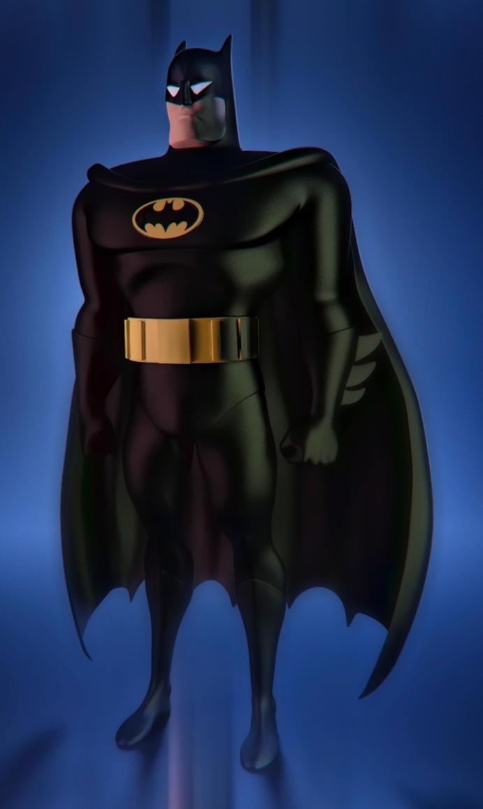 Batman Animated Series Revisited (Black Suit Ver.) by serhanyenilmez