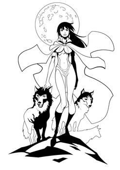 Vampirella inking 02