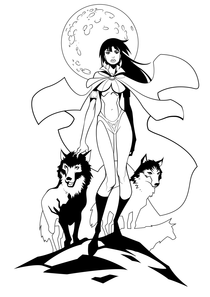 Vampirella inking 02 by serhanyenilmez