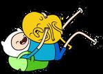 Finn and Jake hug