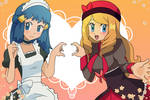 Maid Dawn and Dressed Up Serena