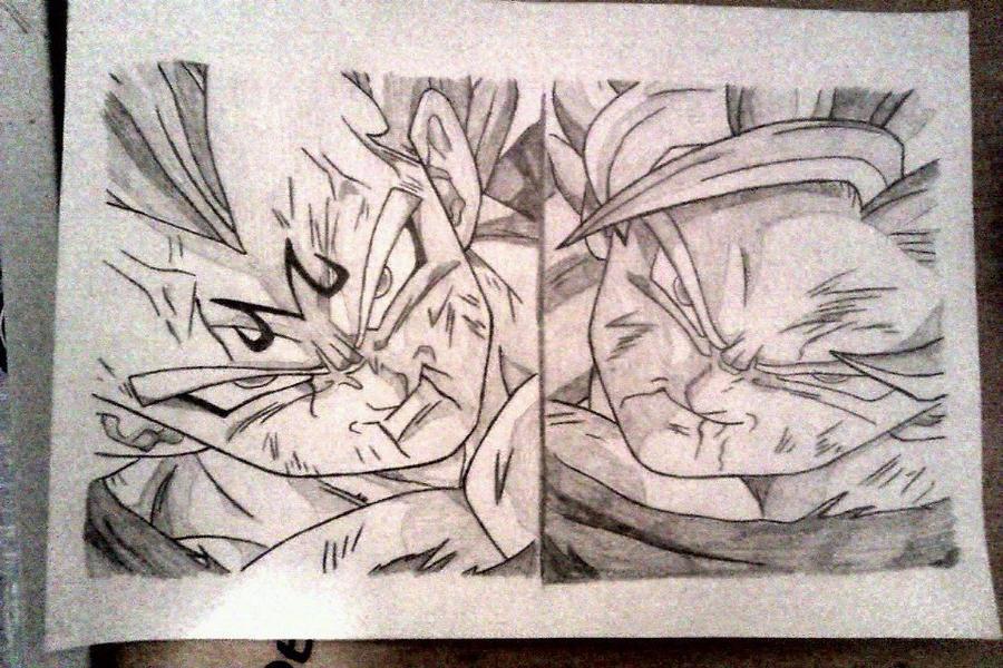 Majin Vegeta and Goku Super Saiyan 2 by infenityi66 on DeviantArt