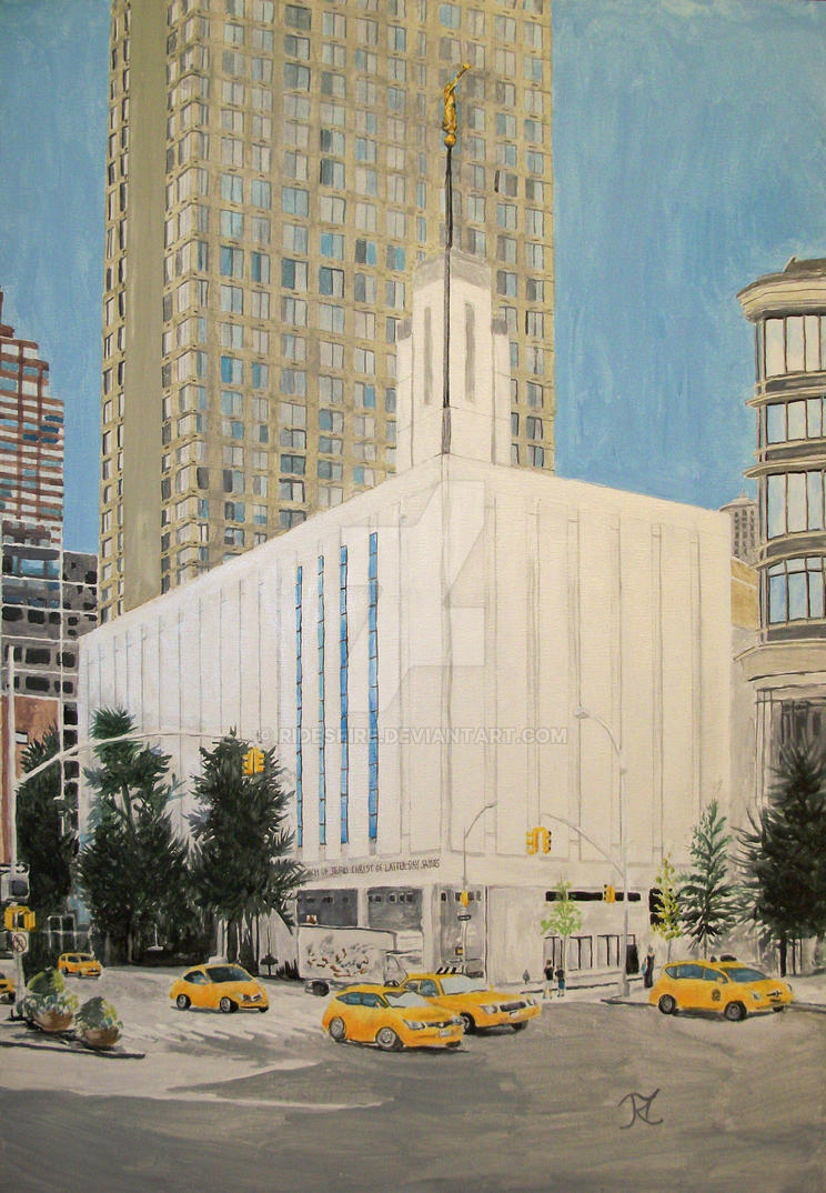 Manhattan New York Lds Temple By Ridesfire On Deviantart