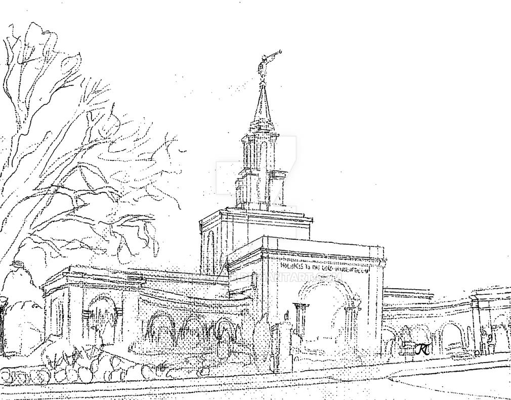 Sacramento California LDS Temple Starry Sketch by Ridesfire on ...