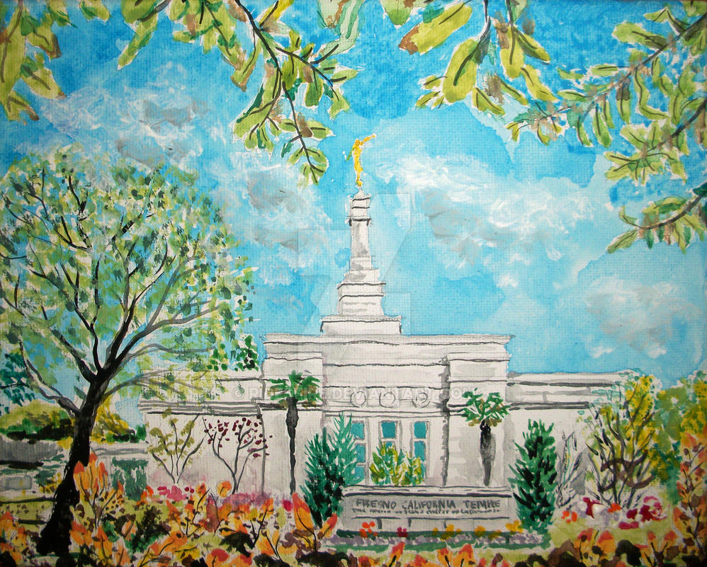 Fresno CA LDS Temple Daylight by Ridesfire