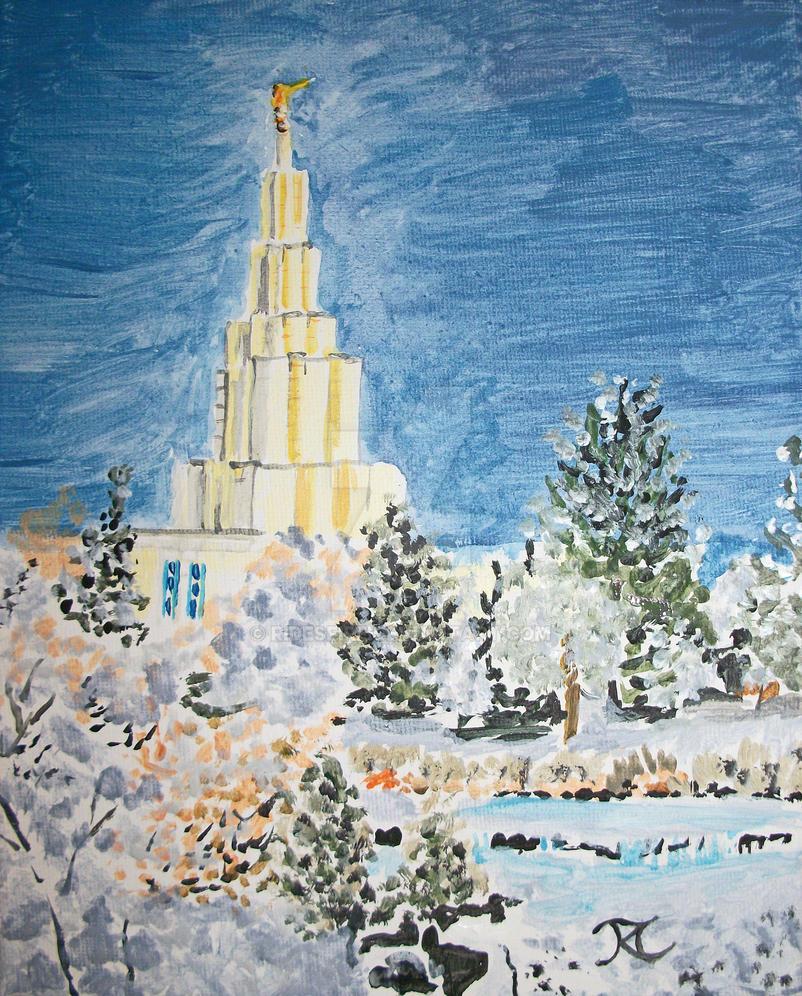 Idaho Falls Idaho LDS Temple by Ridesfire