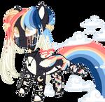 CUTE LITTLE RAINBOW PONY OvO by FairyPie2909