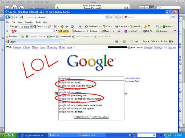 Funny Google Search Emmiitherocker