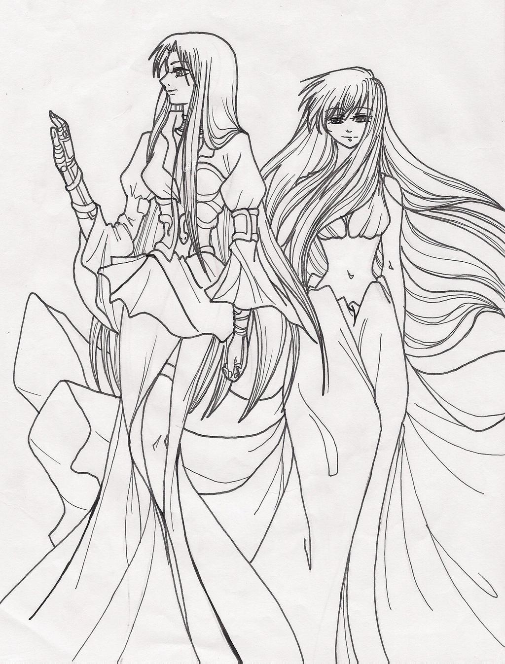 manga coloring pages - pandora and sasha manga version by lemalec on deviantart