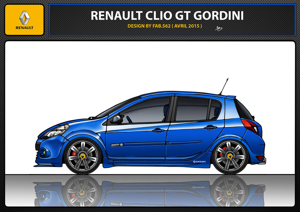 renault clio 3 gt gordini by fab562 on deviantart. Black Bedroom Furniture Sets. Home Design Ideas