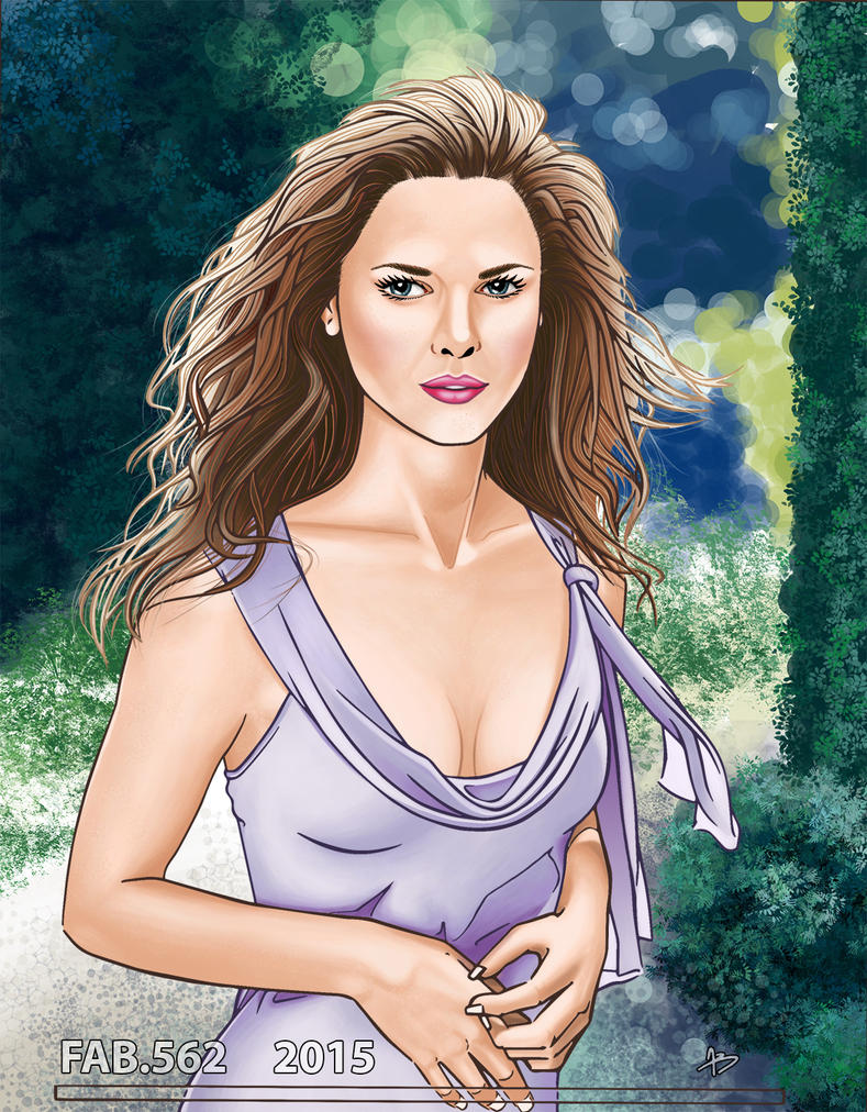 keri russel digital painting by fab562