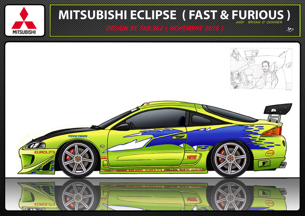 Mitsubishi-eclipse-fast--furious-paul-walker by fab562
