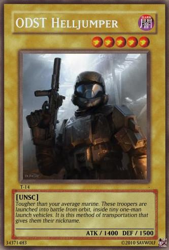 Halo Yu-Gi-Oh Card ODST by SavWolf