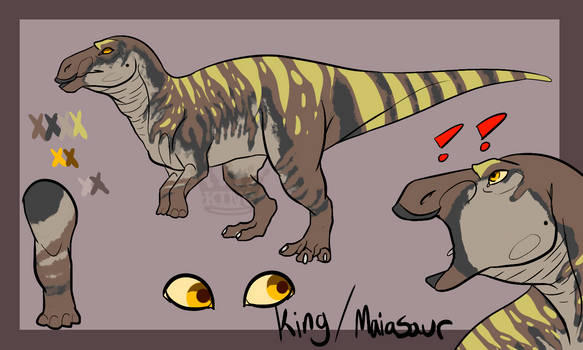 KING Maiasaurus ref sheet
